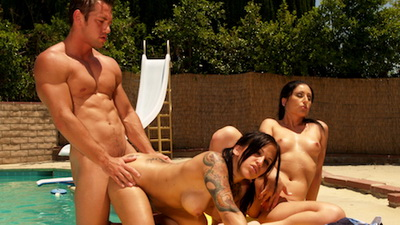Regan Reese and Luscious Lopez with Johnny Castle sex